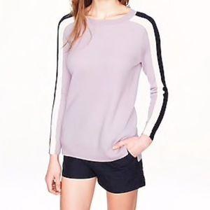 J. Crew Stripe Sleeve Merino Wool Sweater | Size S